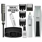 Wahl Mustache & Beard w/ Bonus Trimmer, Model 5537-420, Silver