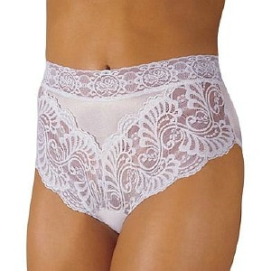 Wearever Women's Lovely Lace Trim Panty, Medium, White