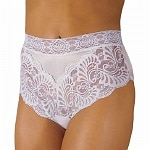 Wearever Women's Lovely Lace Trim Panty, Large, White- 1 ea