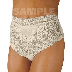 Wearever Women's Lovely Lace Trim Panty, Large, Ivory