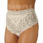 Wearever Women's Lovely Lace Trim Panty, XXXL, Ivory- 1 ea