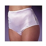 Wearever Women's Nylon and Lace Incontinence Panty, Large, White