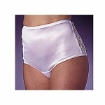 Wearever Women's Nylon and Lace Incontinence Panty, XXL, White