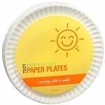 Sunny Smile Paper Plates, 9 inch- 72 ea