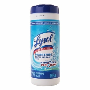 Lysol Power & Free Toilet & Bathroom Wipes, Cool Spring Breeze, 35 ea