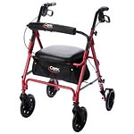 Carex Rolling Walker, Burgundy- 1 ea