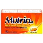 Motrin IB Ibuprofen Pain Reliever/Fever Reducer 200 mg, Tablets- 100 ea