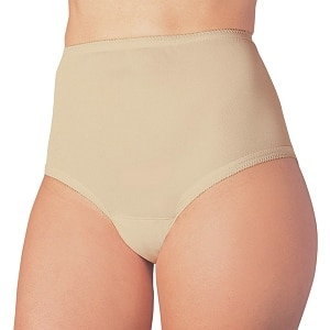 Wearever Reusable Women's Cotton Comfort Incontinence Panty, Small (Hip 35-37), Beige