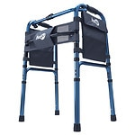 Hugo Adjustable Folding Walker With Bonus 5 Inch Wheels and