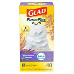 Glad OdorShield Tall Kitchen Drawstring Trash Bags, 13 Gallon,