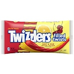 Twizzlers Filled Twists Sweet & Sour Candy, Cherry Kick & Citrus Punch- 11 oz