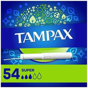 Tampax Tampons with Anti-Slip Grip Cardboard Applicator, Super- 54 ea