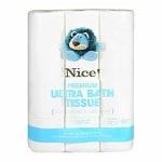 Nice! Premium Ultra Bath Tissue / Toilet Paper 12 Rolls- 12 roll