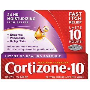Cortizone 10 Intensive Healing Formula 1% Hydrocortisone Anti-Itch Creme- 1 Ounce