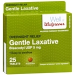 Walgreens Gentle Laxative Tablets- 25 ea