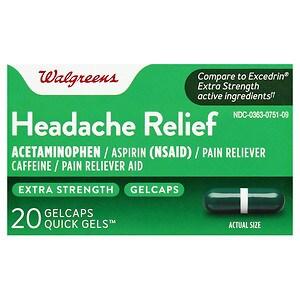 Walgreens Extra Strength Headache Relief Quick Gel Gelcaps- 20 ea