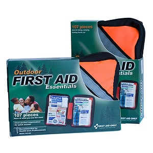 First Aid Only Outdoor First Aid Kit, Softsided, 107 Piece, 1 ea