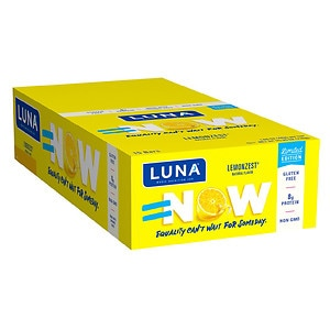 Luna Nutrition Bar for Women, Lemon Zest, 15 ea