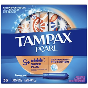 Tampax Pearl Tampons with Plastic Applicators, Fresh Scent, 36 ea