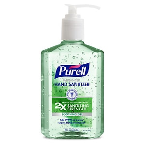 Purell Advanced Hand Sanitizer, Pump, Aloe- 8 fl oz