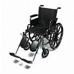 Everest & Jennings Traveler Lightweight Wheelchair with Flip Back Desk Arm & Elevate Leg Rests, 20 x 16- 1 Each