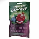 Halls Defense Sugar Free Supplement Drops, Pomegranate Berry
