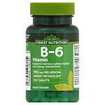 Finest Nutrition B-6 Vitamin 100 mg Dietary Supplement Tablets- 100 ea