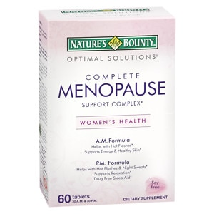 Nature's Bounty Complete Menopause Support Complex Dietary Supplement Tablets- 60 ea