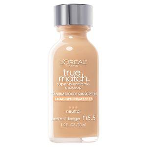 L'Oreal Paris True Match Super-Blendable Makeup, SPF 17, Perfect Beige