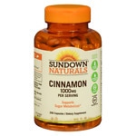 Sundown Naturals Cinnamon 1000 mg per Serving Dietary Supplement Capsules