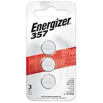Energizer Watch/Electronic Silver Oxide Batteries, 357- 3 ea