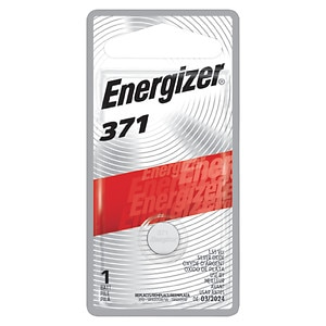 Energizer Watch/Electronic Silver Oxide Battery, 371, 1 ea