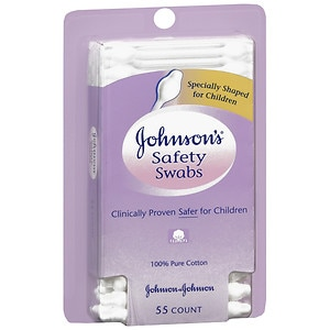 Johnson's Baby Safety Swabs- 55 ea