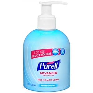 Purell Advanced Hand Sanitizer, Cup Holder Pump, Refreshing