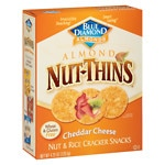 Blue Diamond Nut-Thins Nut & Rice Cracker Snacks, Cheddar Cheese- 4.25 oz