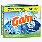 Gain with Ultra Oxi Booster Powder Laundry Detergent, 31 Loads