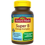 Nature Made Super B Complex Full Strength Mini, Softgels- 60 ea