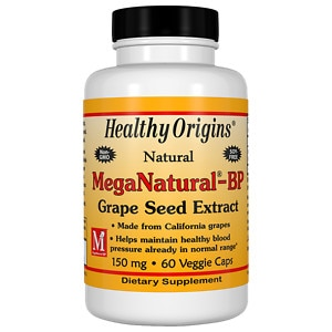 Healthy Origins MegaNatural-BP Grape Seed Extract 150 mg, Capsules- 60 ea