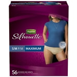 Depend Silhouette Incontinence Briefs for Women, Maximum