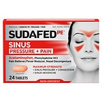 Sudafed PE Pressure + Pain Maximum Strength Caplets for Adults- 24 ea