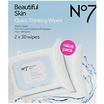 Boots No7 Quick Thinking Wipes - Value Pack- 1 set