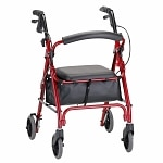 Nova GetGo Petite Classic Walker with Padded Seat and Bag, Red- 1 ea