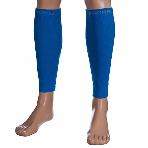 Remedy Calf Compression Running Sleeve Socks, Large, Blue