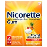 Nicorette Nicotine Gum, 4 mg, Fruit Chill- 160 ea