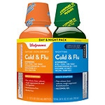 Walgreens Cold and Flu Day and Night Liquid Combo Pack