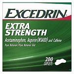 Excedrin Extra Strength Pain Reliever Aid Caplets- 200 ea