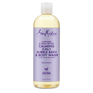 SheaMoisture Bubble Bath & Body Wash, Lavender and Wild Orchid- 16 Ounces