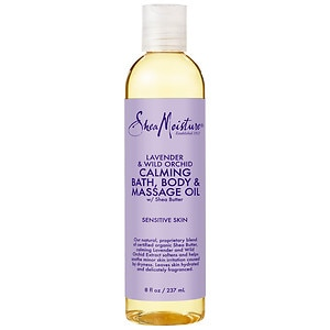 SheaMoisture Lavender & Wild Orchid Bath, Body & Massage Oil- 8 Ounces