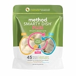 method Smarty Dish Plus Dishwasher Detergent Tabs, 45 Loads, Lemon Mint