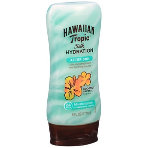 Hawaiian Tropic Silk Hydration After Sun Ultra Hydrating Lotion & Soothing Aloe Gel, Coconut Papaya
